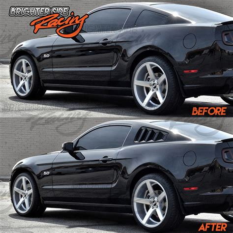 ford mustang louvers fits 05 09 ford mustang 2pc abs gloss black side window