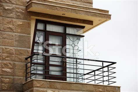 House Exterior Balcony, Corner Window With Natural Stone