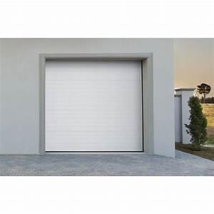 porte de garage sectionnelle motorise blanche groove With porte de garage discount
