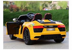 Audi R8 Spyder Yellow Painting - Electric Ride On Car ...
