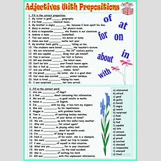 Adjectives With Prepositions Worksheet  Free Esl Printable Worksheets Made By Teachers