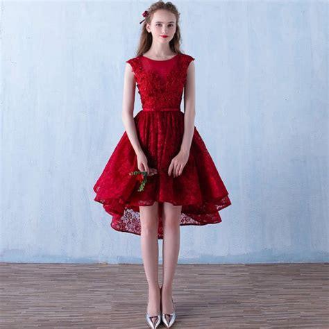 Fashion Bride Short Sexy Bridesmaid Red Dress V Neck ...