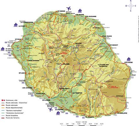 La Réunion Carte Géographique Monde by Carte De La Reunion La R 233 Union Paradis