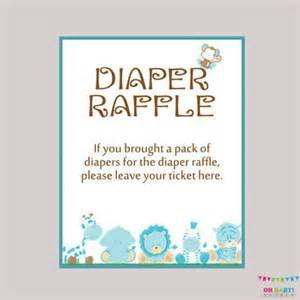 Baby Shower Diaper Raffle Ticket Sign