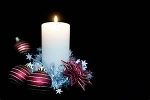 Photo, Of, Christmas, Candle, Backdrop