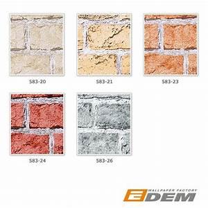 Stein Muster Tapete : edem 583 20 3d rustikale vinyl tapete mauer stein klinker ziegelstein sand beige original edem ~ Sanjose-hotels-ca.com Haus und Dekorationen