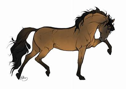 Horse Drawing Drawings Horses Running Brown Easy