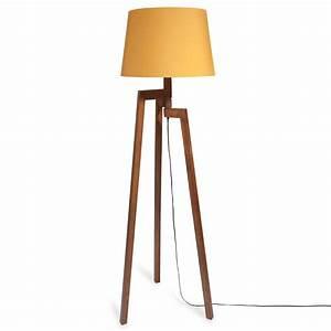 Lampadaire Maison Du Monde : lampadaire tr pied en bois moutarde maisons du monde ~ Premium-room.com Idées de Décoration