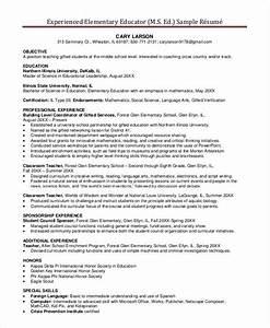 29 basic teacher resume templates pdf doc free With elementary teacher resume examples