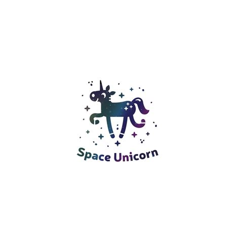 sale space unicorn logo design logo cowboy