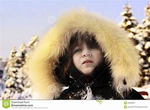 Portrait Of Young Girl Wearing Fur Lined Coat Royalty-Free ...