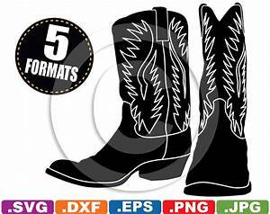 Cowboy / Western Boots Clip Art Image svg & by ...