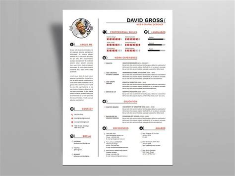 resume templates  indesign format creativebooster