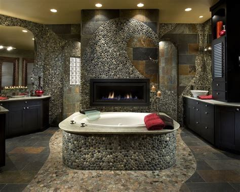How To Use River Rock Tile in Bathroom Design: 19 Great