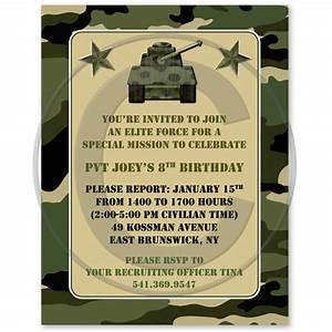 army birthday invitations camouflage military army With camouflage party invitation template