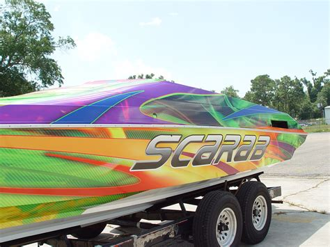 Model Boat Graphics by Custom Graphics Vinyl Wraps Boat Wraps Florida