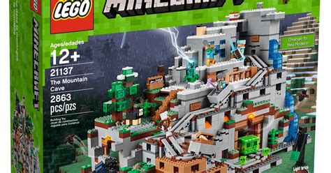 lego minecraft  mountain cave   biggest set  time
