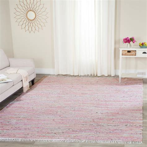 light pink rug safavieh rag rug light pink multi 8 ft x 10 ft area rug