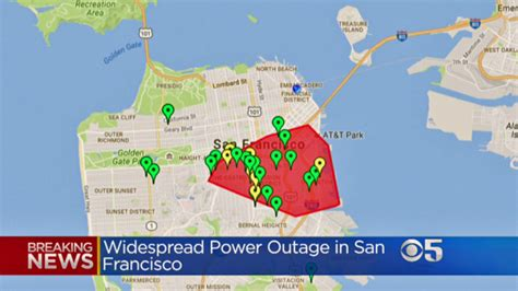 widespread power outage affects   san francisco