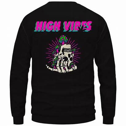 Skull Trippy Vibes Marijuana Crewneck Sweatshirt