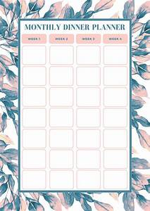 free monthly meal planning template bake play smile With monthly dinner calendar template