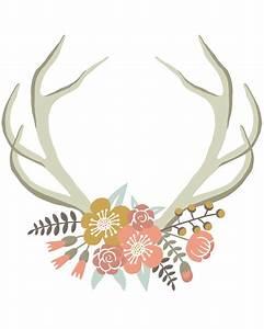 Floral Deer Crown free nursery or gallery wall printable ...