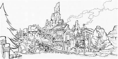 Mountain Thunder Disney Walt Coloring Pages Rides