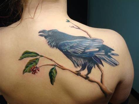 realistic  crow tattoo  tantrix body art