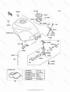 Kawasaki Motorcycle 2007 Oem Parts Diagram For Fuel Tank