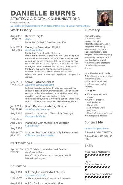 It Specialist Cv Template by Social Media Specialist Resume Sles Visualcv Resume
