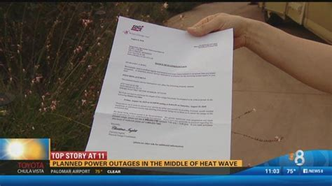 Planned Sdg&e Power Outages In The Middle Of The Heat Wave
