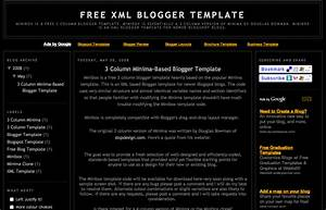 free xml blogger template 3 column minima 3 col blogger With free xml templates for blogger