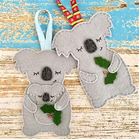 mummy koala christmas decoration australian animal grey