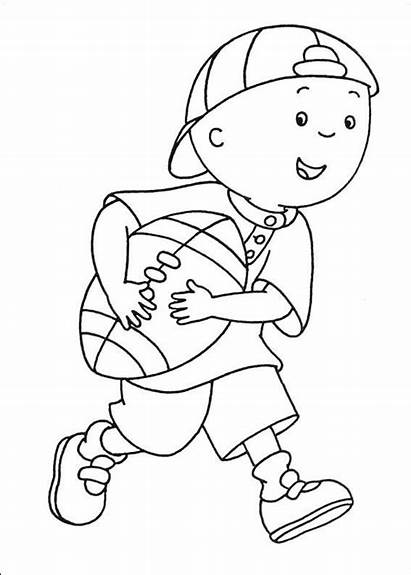 Caillou Printable Coloring Karate Pages