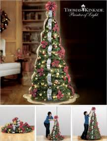 kinkade pre lit pull up tree makes decorating easy 39 s technology news