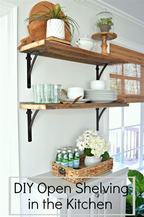 Kitchen Open Shelves Images by Diy Kitchen Open Shelving For 50 Home