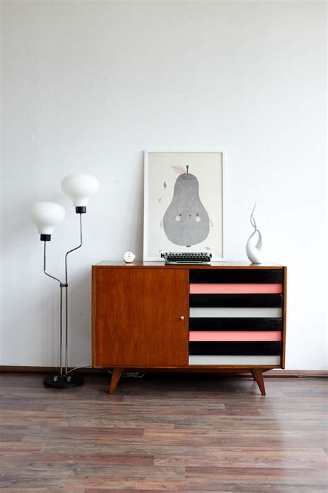 Coloured Sideboards by Vintage Sideboard With Colored Drawers By Jiř 237 Jiroutek