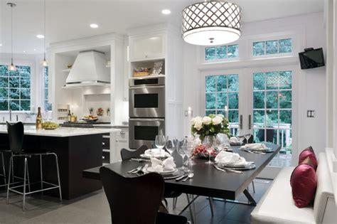eat in kitchen lighting ideas wayland residence kitchen renovation transitional 8859