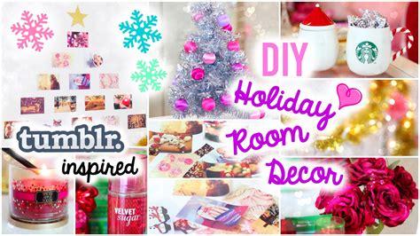 diy holiday room decor easy simple ideas youtube