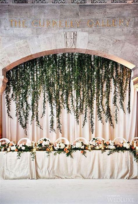 chic wedding head table backdrop decoration ideas