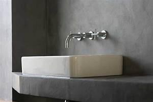 Beton Ciré Sol Salle De Bain : b ton cir decorateur caen salle de bain cuisine sol plan de travail ~ Preciouscoupons.com Idées de Décoration