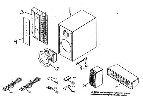 Speaker Part Diagram by Speaker Diagram Parts List For Model Nxp150 Yamaha Parts