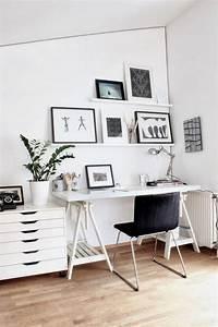 Comment meubler et decorer un bureau scandinave blanc et for Idee deco cuisine avec mobilier bureau scandinave