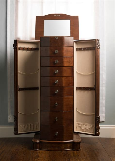 jewelry armoire with mirror furniture best mirrored jewelry armoire design for your