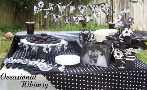 black  white party decorations   oreo party