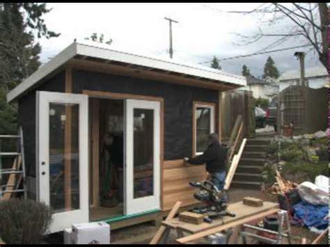 Building A Studio In The Backyard by Backyard Works Backyard Studio Build Dv
