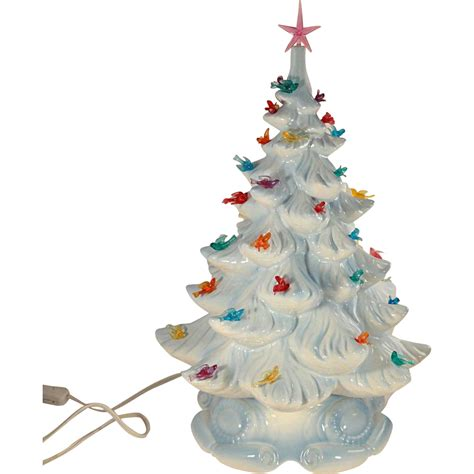 ceramic christmas tree with lights affordable vintage