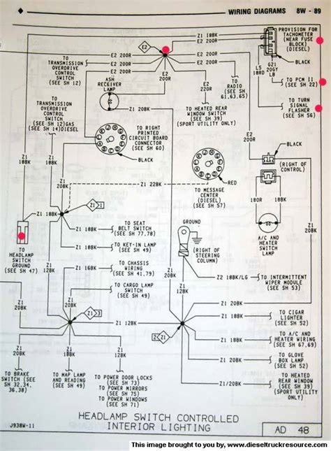 1993 Dodge Truck Dash Wiring Diagram by Oem Tach Wiring Diagram Dodge Diesel Diesel Truck