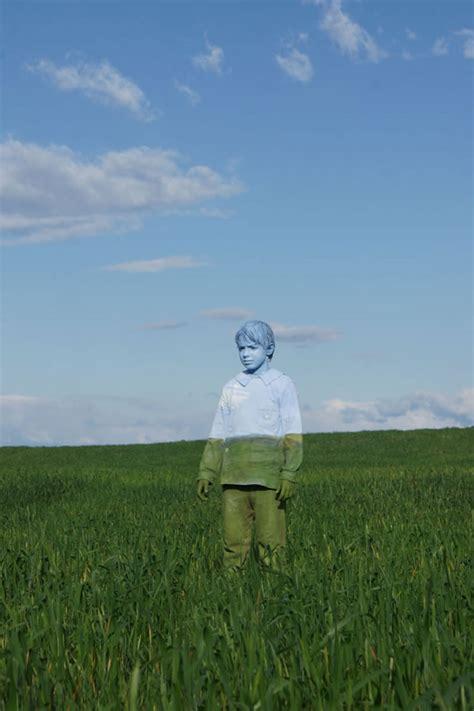 italian artist ingeniously camouflages  models