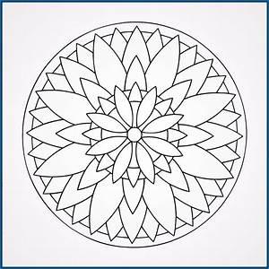 Mandalas para Imprimir Niños y colorear Dibujos de Mandalas